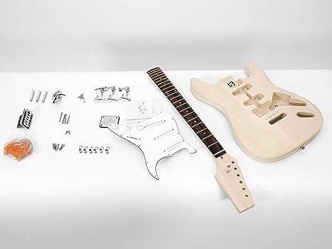 Juego de piezas de guitarra eléctrica GYVER TWO, color natural - Guitarra para montar /