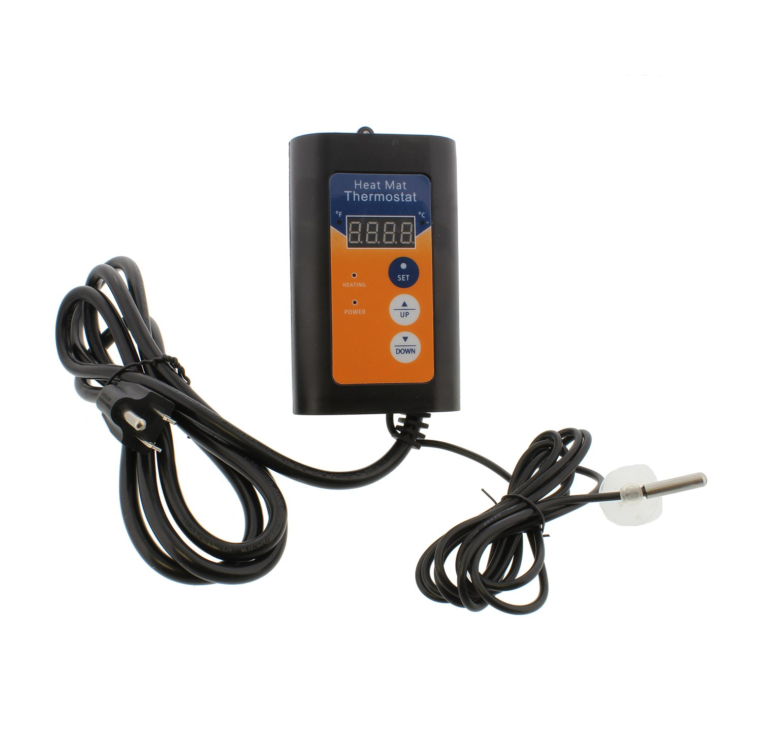 Homebrew Electric Fermentation Heating Thermostat and Probe – Kombucha, Beer Wort, Wine Brewing Digital Heat Controller