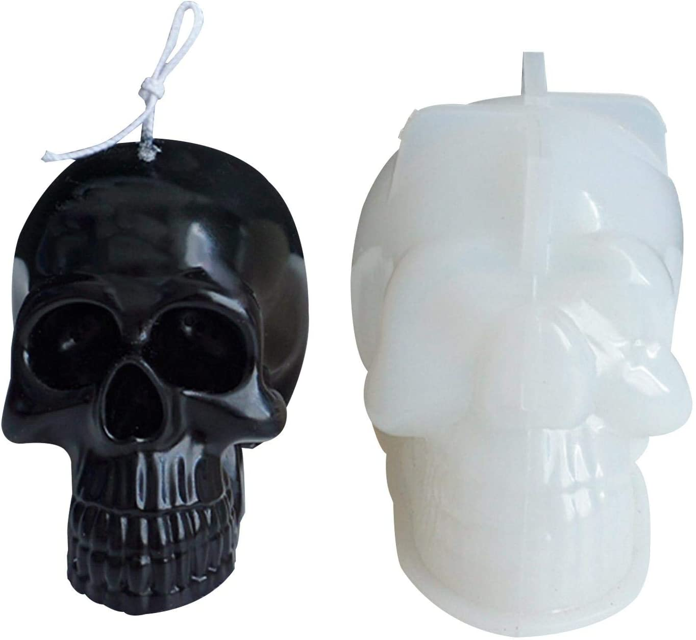 Candle Silicone Mold Durable Mould 3D Skull Flexible Silicone Ice Cube Mold Tray for Gifts Skulls Mold Skull-Shaped