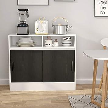 Amazon Com Tribesigns Kitchen Storage Cabinet Microwave