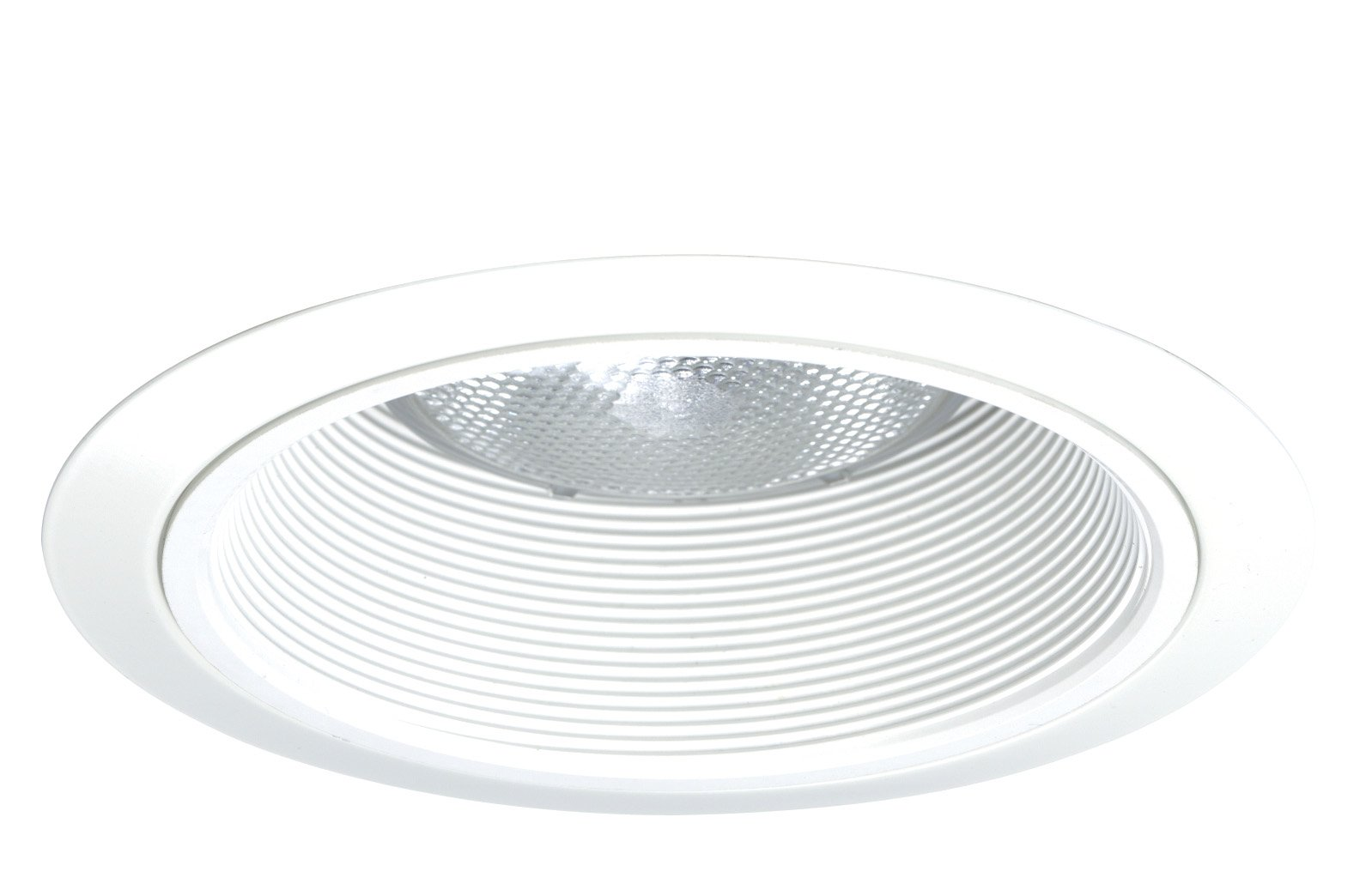 Juno Lighting 24W-WH 6-Inch Tapered Downlight Baffle, White with White Trim
