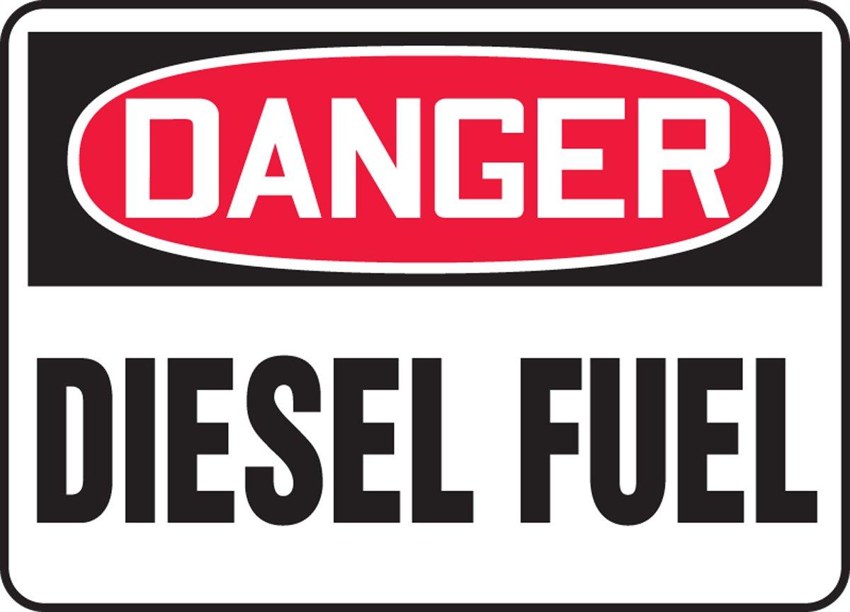 MCHL226XP AccuformDanger Diesel Fuel Safety Sign 10 x 14 Inches Accu-Shield