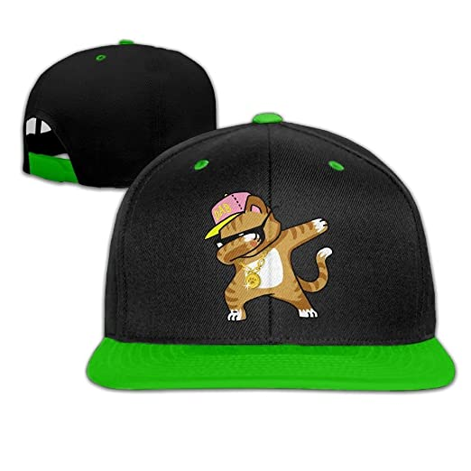 Hip Hop Dabbing Kitten Cat Snapback Hats Hip Hop Baseball Caps at ... 64bb431d9a0