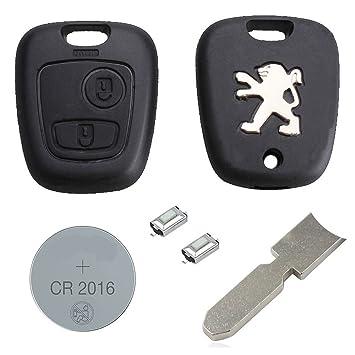 Peugeot DIY Kit de reparación de botón de mando a distancia de repuesto para el coche 2: Amazon.es: Electrónica