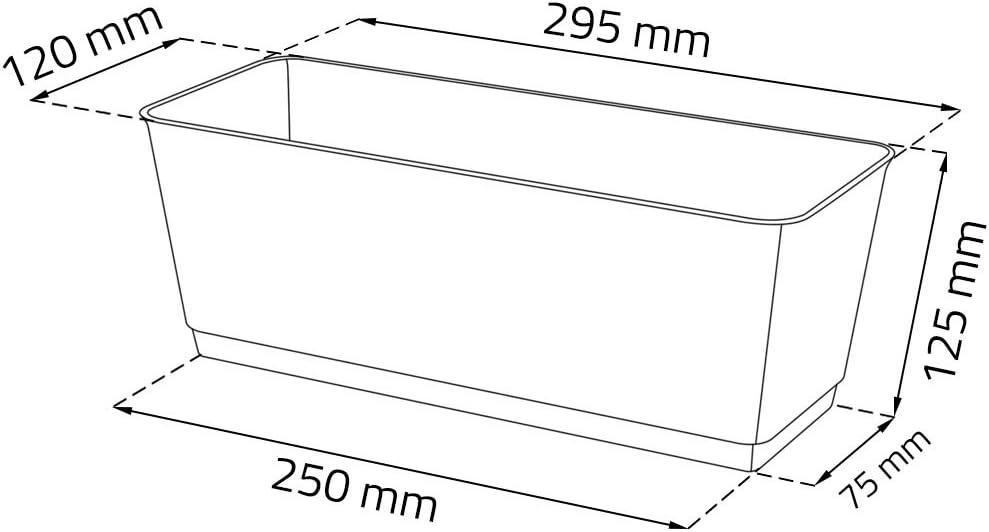Pot de fleurs jardini/ère Jardini/ère de balcon Effet rotin avec soucoupe Marron L 30/cm