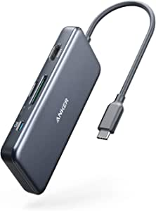 Anker USB C Hub, PowerExpand+ 7-in-1 USB C Hub Adapter, with 4K HDMI, 100W Power Delivery, USB-C and 2 USB-A 5Gbps Data Ports, microSD and SD Card Reader, for MacBook Air, MacBook Pro, XPS, and More