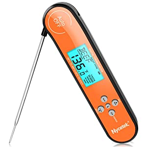 [Professional is The Best] Cooking Quick Read Meat Thermometer Instant Read in 2s Digital Food Thermometer with Backlight and Magnet for BBQ Candy Grill Smoker Multi-Functional Kitchen Thermometer
