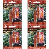 4Pairs/8Pads Red Trials Brake Pads Suits Magura Hydraulic Rim Brakes - 50mm
