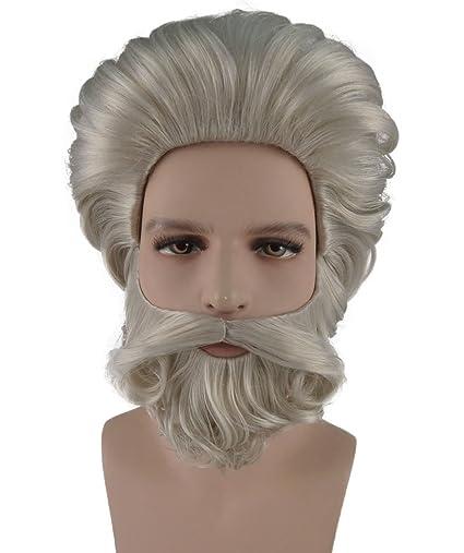 Mose Rubio fiesta disfraz peluca y barba Set hm-107 adulto: Amazon ...
