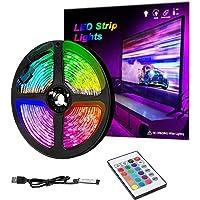 1 m RGB LED Strip Lights, IP65 gekleurde USB TV Backlight met afstandsbediening, 16 kleuren veranderen 5050 LEDs Bias…