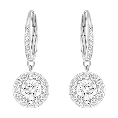 3b0a29bda13b8 Image Unavailable. Image not available for. Color  Swarovski Crystal Attract  Light Pierced Earrings