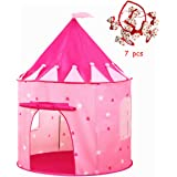 Princess Castle Tent PLAY10 Playhouse Pop-up Children Tent Foldable Tent for Girls Indoor & Outdoor Fun with Convenient Storage Carry Bag