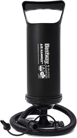 TALLA 36cm. Bestway 62003 Hinchador 36 cm 3 válvulas, Negro, 36cm