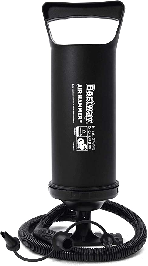 Bestway 62002 Bomba de aire Hinchador Manual 30 cm color negro