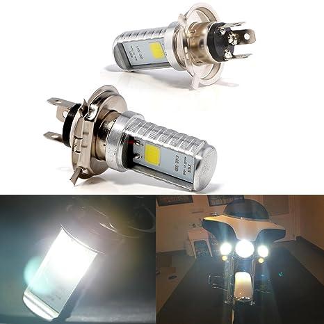 Bombillas LED Grandview H4, 2pcs Bombillas Delanteras Delanteras Para Motocicletas H4 Blancas, Bombillas Para