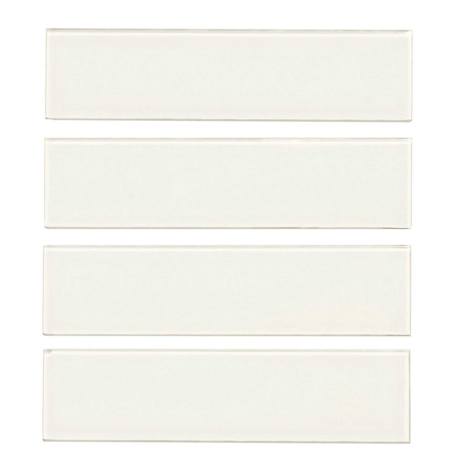 Glass Subway Tile,Oracle Collection, GTSU 001 - Super White, 3''X12'', 4 Pieces per SQFT (Box of 5 SQFT) by Mosaic Warehouse