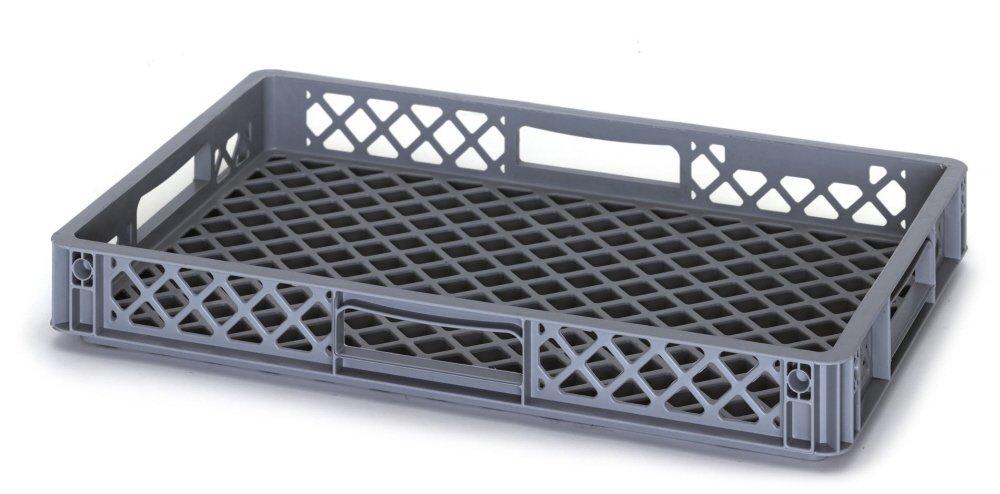 Con ventilación y perforado Euro apilables plástico/apilables recto cara caja de almacenaje - hornear panadería rack de refrigeración bandeja - multiusos ...