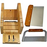 Biowow Adjustable Wood Soap Mold Loaf Cutter with Cake Cutting Tool