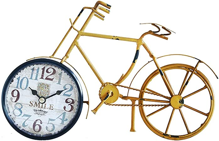 WYZ A Hoy Reloj de Metal Reloj Mute Fashion Living Room Crear Creativo Reloj de Bicicleta de Hierro Forjado Reloj Familiar (Color : B): Amazon.es: Hogar