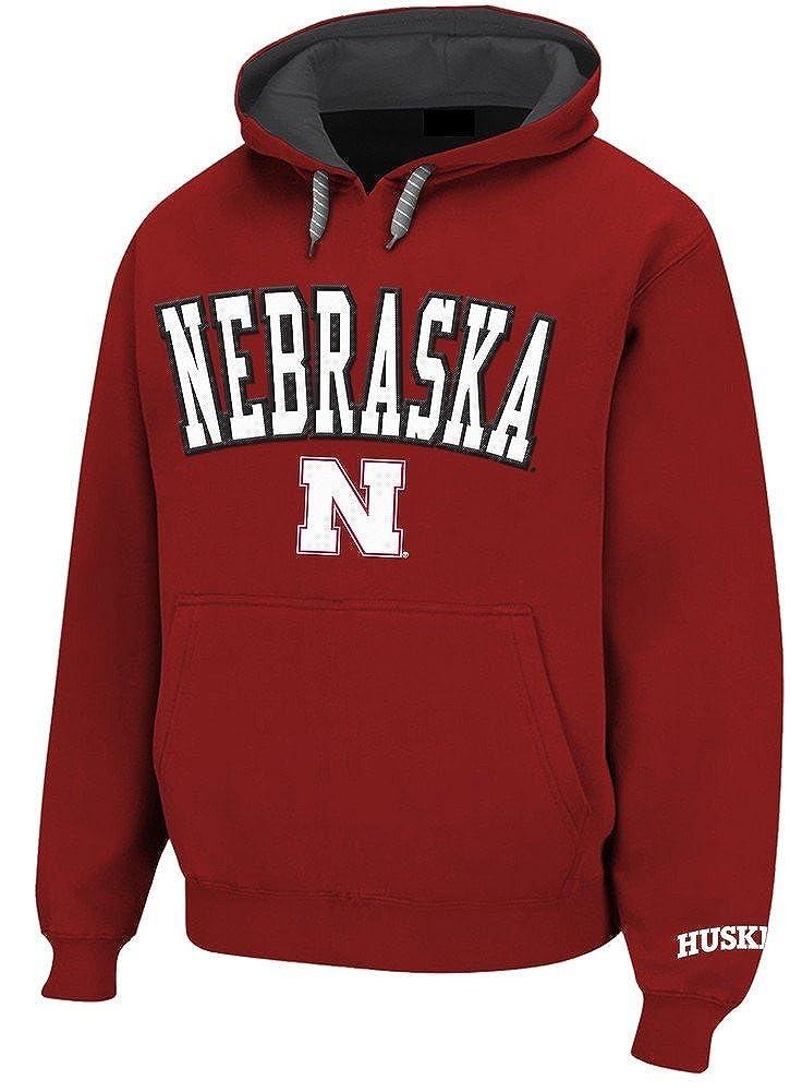 M Elite Fan Shop Nebraska Cornhuskers Hooded Sweatshirt Red Twill Dark Red