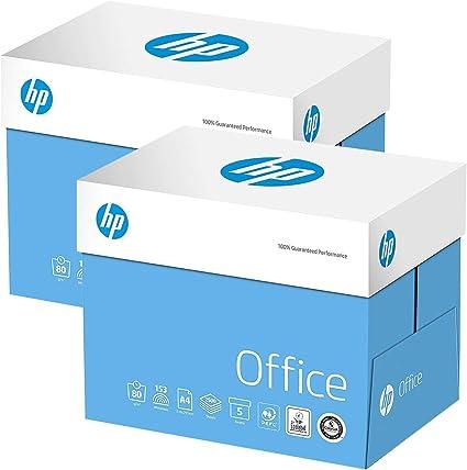 2 cajas de papel HP de 80 g/m², A4, color blanco (10 x 500=5000 hojas): Amazon.es: Oficina y papelería