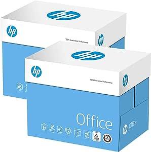 2Xboxes HP Papers - Papel para copiadora de oficina (80 g/m², A4, color blanco (10 x 5000 hojas): Amazon.es: Oficina y papelería