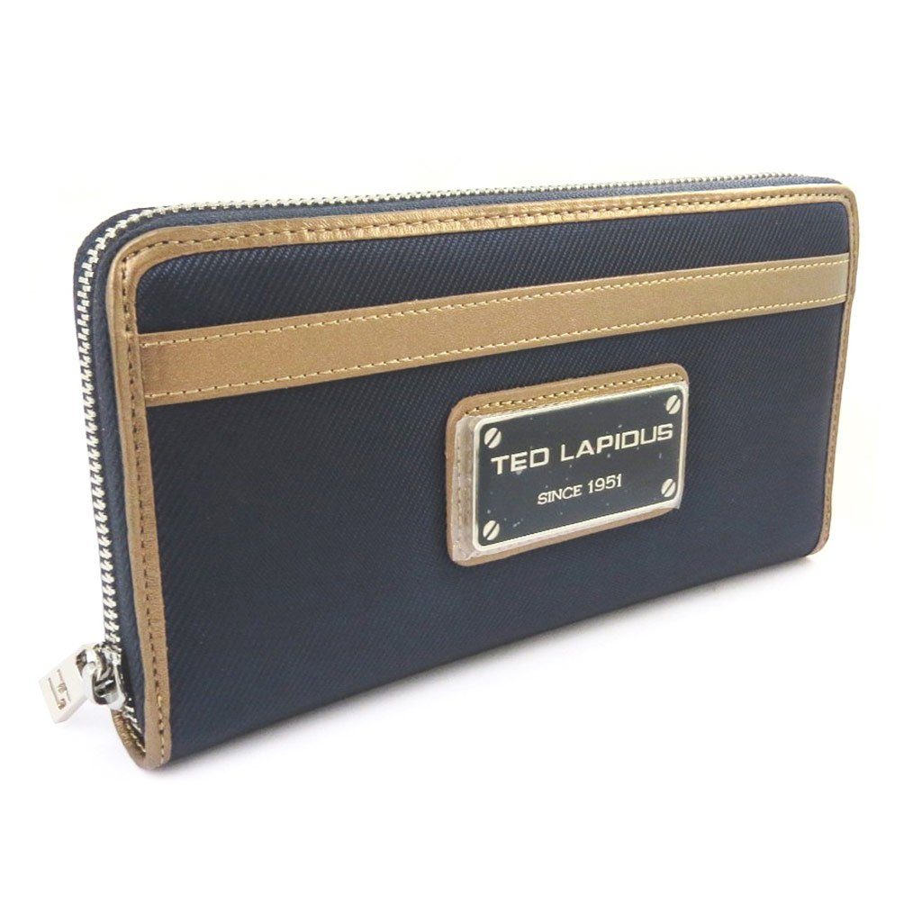 Zipped wallet + checkbook holder 'Ted Lapidus'navy.