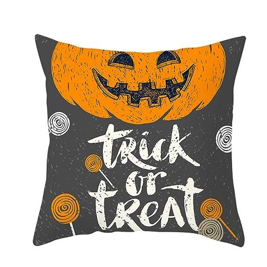 Fansu Fundas de Cojines para Sofa Halloween, Impresión 1 ...