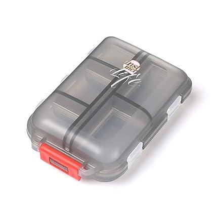 Shuxy Organizador portátil de viajes Recordatorio de medicamentos y recetas Pastillero Dispensador Envase de los tornillos