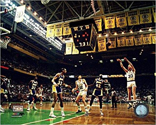 NBA Larry Bird Boston Celtics Action Photo (Size: 16