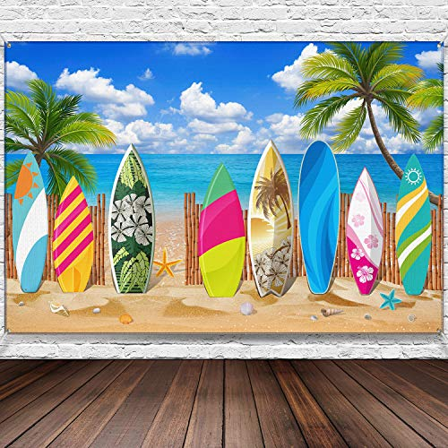 Surfboard Beach Party Backdrop