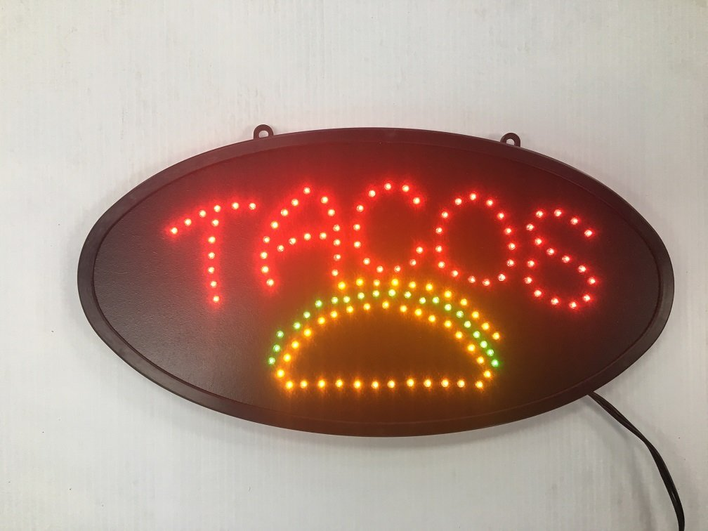 Tacos Sign LED 2 PACK ''(L) X10''(W) X 1''(H) LEDUSA