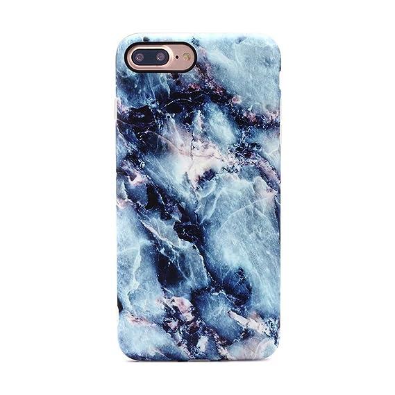 promo code 81c49 944a6 GOLINK iPhone 7 Plus Case/iPhone 8 Plus Marble Case, Matte Marble Series  Slim-Fit Anti-Scratch Shock Proof Anti-Finger Print Flexible TPU Gel Case  for ...