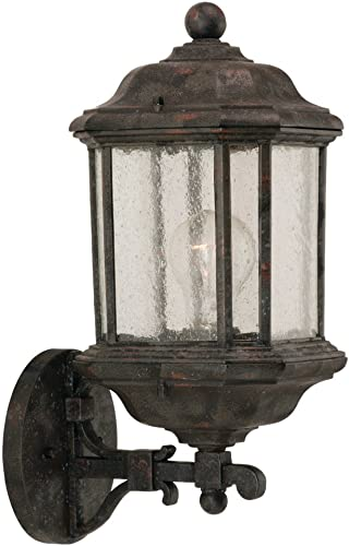 Sea Gull Lighting 84032-746 Kent One Light Outdoor Wall Lantern, 20 H, Oxford Bronze