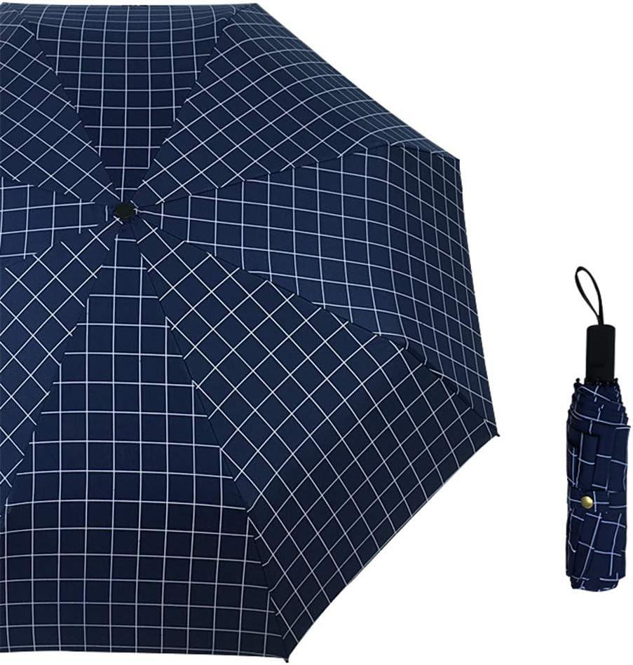 JUNDY Paraguas Compacto y Resistente al Viento, Paraguas Plegable, Conveniente para Viajes Tríptico Enrejado de plástico Negro Protector Solar Paraguas color1 98cm: Amazon.es: Hogar