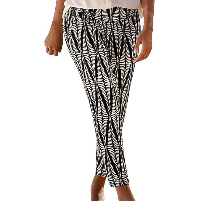 RYTEJFES Pantalones Mujer Pantalones De Yoga Bohemia ...