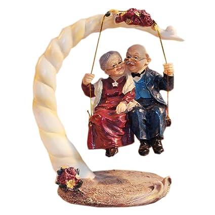 Home Decor Coppia Di Anziani Figurine Per I Genitori Regalo