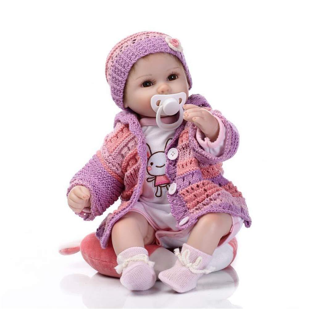 Lebensecht Aussehende Geborene Baby-Puppe Soft Vinyl Silikon Neugeborene Puppen Schlafen Baby Doll Xmas Geschenk 17