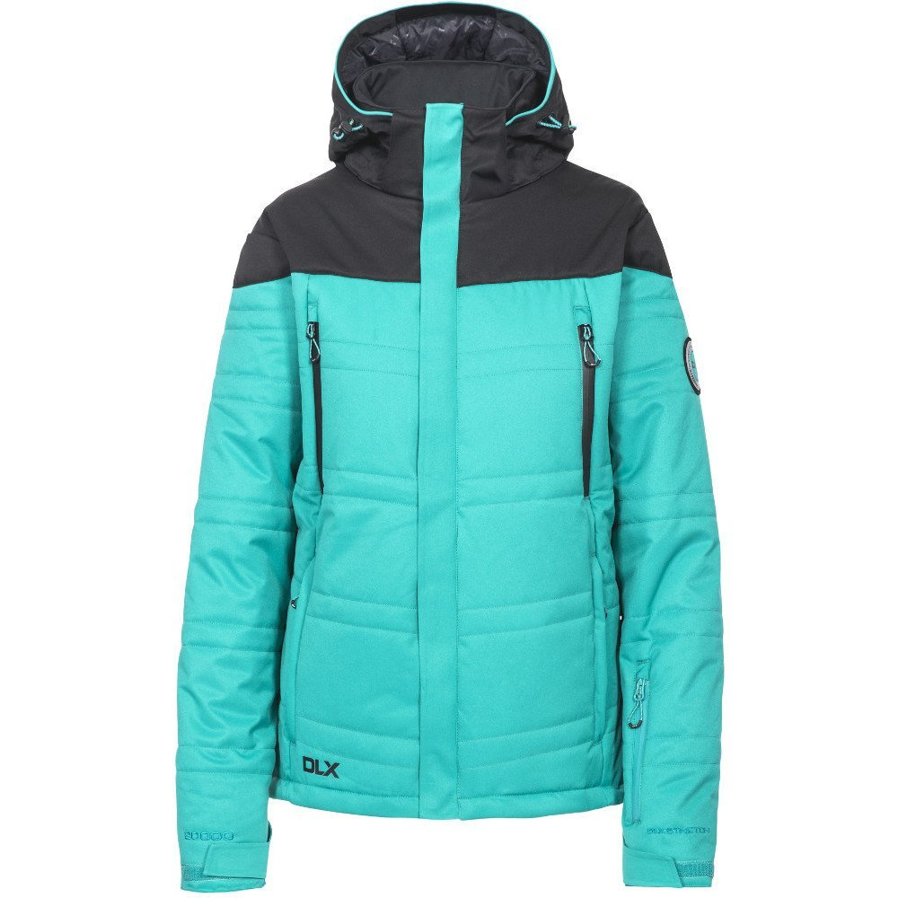 Ocean Green 10 SBust 34  (86cm) Trespass Women's Thandie Warm Waterproof Ski Jacket with Removable Hood