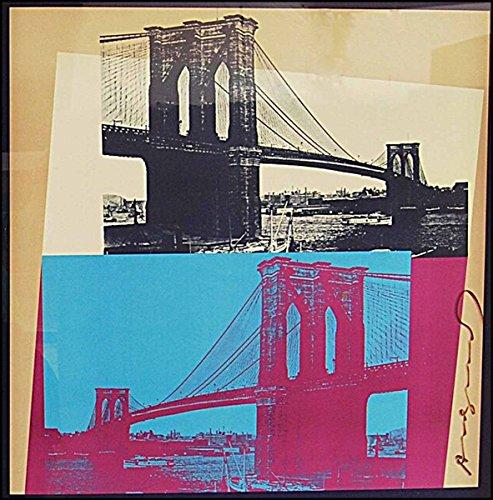 [Literature & Art] Warhol, Andy. (1928-1987): Brooklyn Bridge Centennial Poster – SIGNED