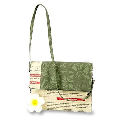 khmai upcycling - Bolsa para iPad Elefante Verde ...