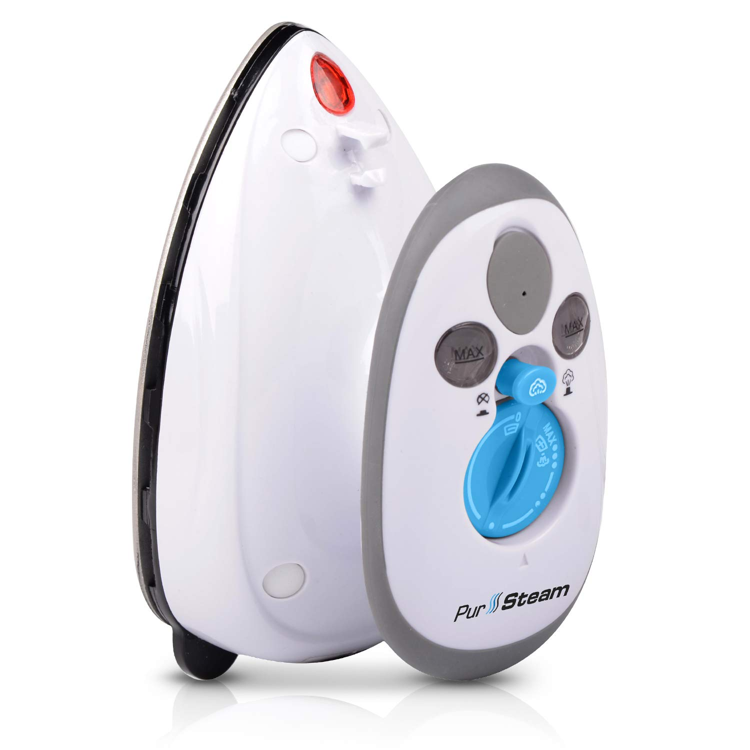 Travel Steamer Iron Mini - Dual Voltage 420W Power Lightweight Best for Travel and Quilting Iron with Anti Slip Handle and Non Stick Soleplate by PurSteam