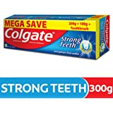 Colgate Strong Teeth Anti-Cavity Toothpaste – 300g with Free Toothbrush (Saver Pack)