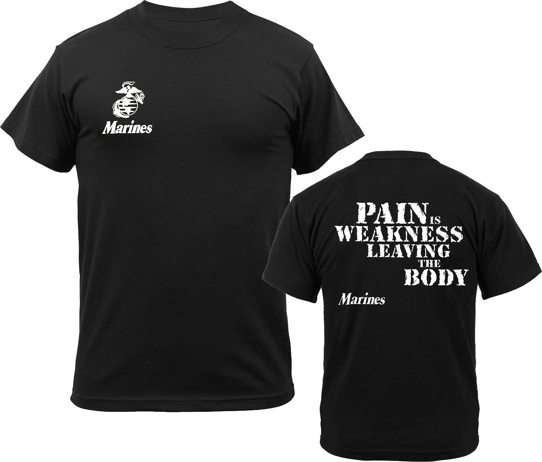 Amazon.com  Army Universe Black USMC Logo US Marines Pain is Weakness 0dc3376b3d1