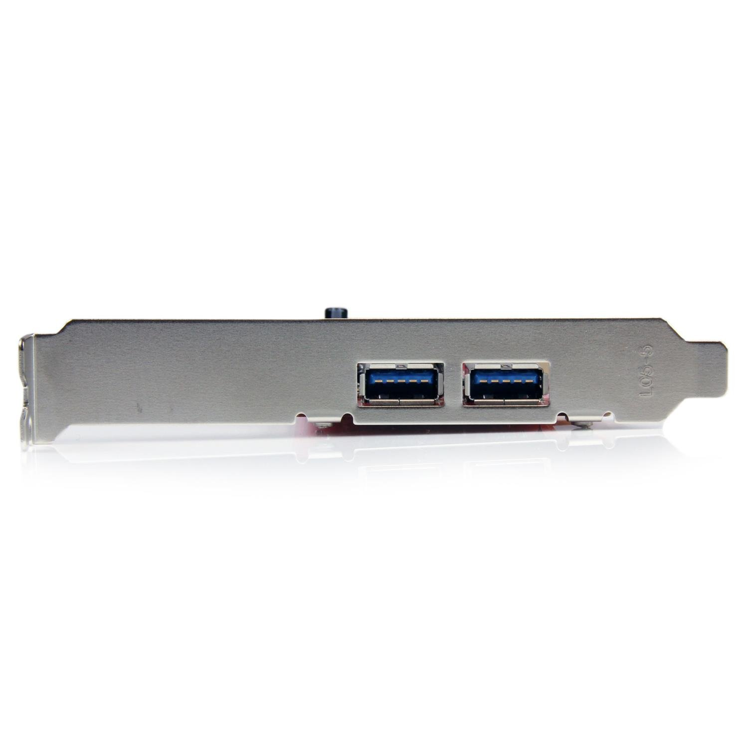 StarTech com 2 Port PCI SuperSpeed USB 3 0 Adapter Card with SATA Power  PCIUSB3S22, Red