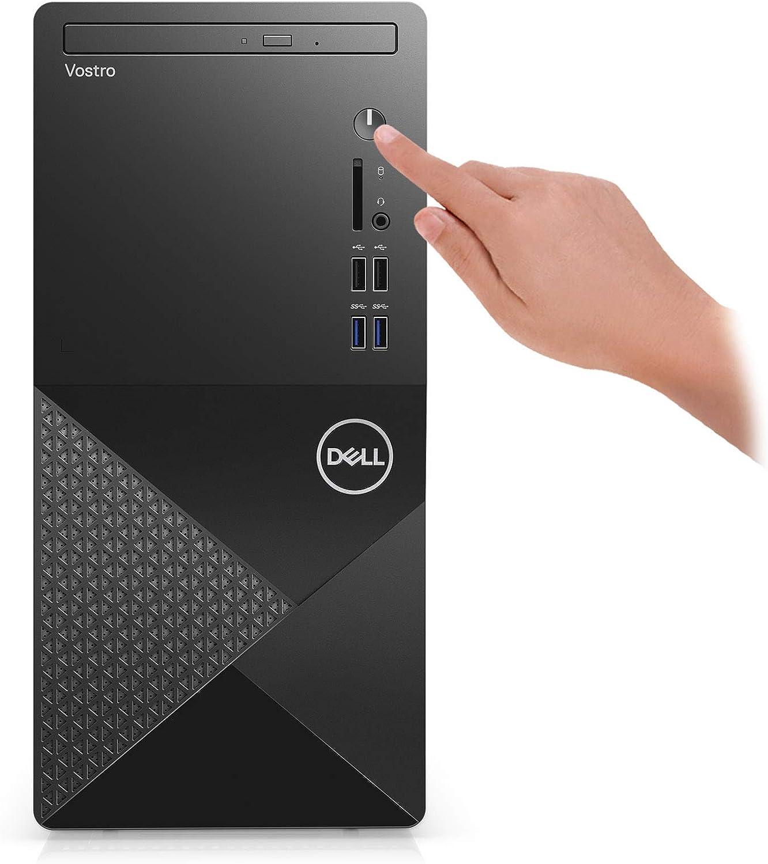 2021 Newest Dell Vostro 3000 Series 3888 Tower Business Desktop Computer, 10th Gen Intel Core i5-10400 6-Core Processor, 8GB Memory, 128GB SSD + 1TB HDD, DVD, HDMI, VGA, Wi-Fi, Windows 10 Pro, Black