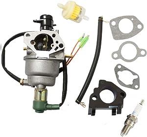 Carburetor Carb for Honeywell HW5500 HW5000E HW6200 100924A 100925A 6036 6037 6151 6875W 337cc 389cc Generator spark plug & intake manifold