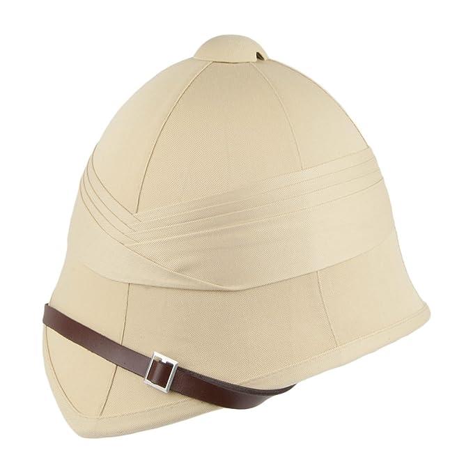 a76b46f7c57 Village Hats British Pith Helmet - Khaki Large X-Large  Amazon.co.uk   Clothing