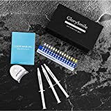 Glory Smile Premium ALL NATURAL Vegan Teeth Whitening Kit NON PEROXIDE 0% Best home kit with LED Light, 3X5ml Gel Syringes with NO peroxide, Comfort Fit Tray and Case to get that perfect smile at home