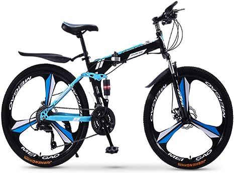 XWDQ Bicicleta De Montaña Plegable Bicicleta 21/24/27/30 ...